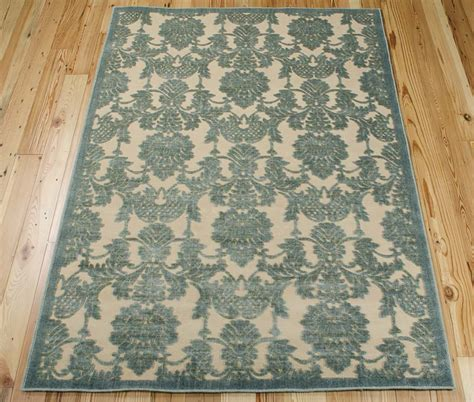 graphic rug nourison graphic illusions gil03 teal rug