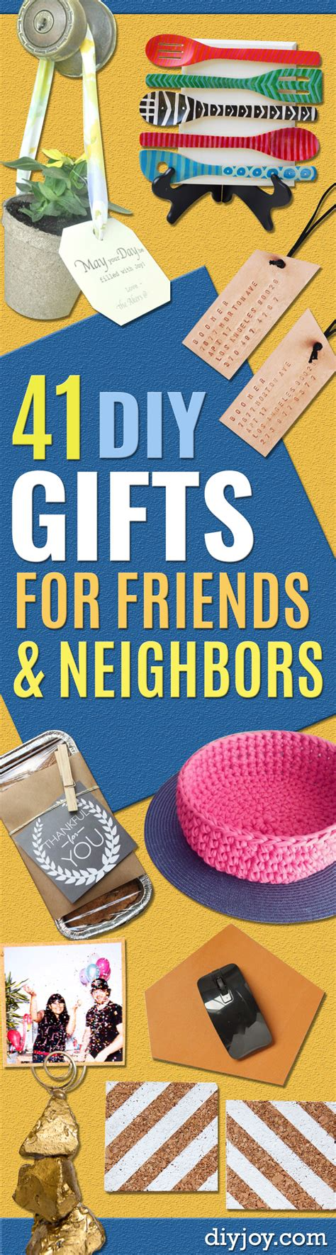 41 best gifts to make for friends and neighbors diy joy