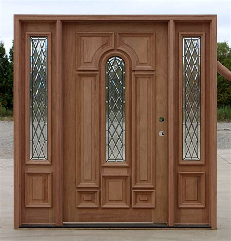 Wide Exterior Doors Wide Entry Door With Sidelights Cl 66