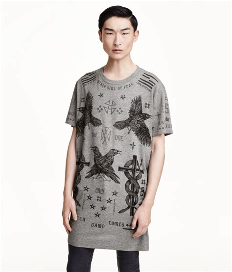 Tshirt New Hurley Putra Collection lyst h m t shirt with a print in gray for