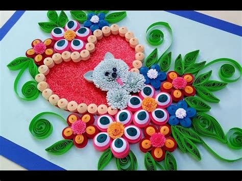 How To Make With Quilling Paper - paper quilling how to make a birthday gift greeting card