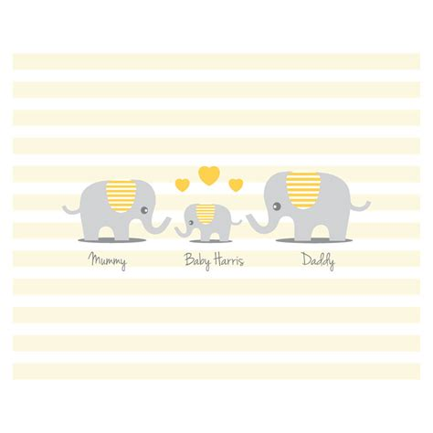 Personalised Baby Shower Book by Personalised Elephant Baby Shower Guest Book Print By Bird