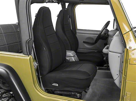 rugged ridge seats rugged ridge wrangler neoprene front seat covers black