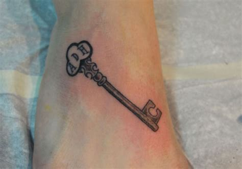 hidden initial tattoo designs 30 exciting key tattoos creativefan