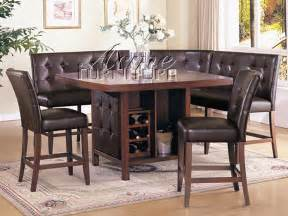 Corner Dining Room Table Bravo 6 Dining Set Counter Height Corner Seating 2 Chairs