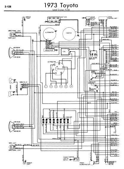 repair manuals toyota land cruiser fj55 1973 wiring diagrams