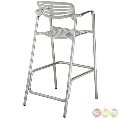 outdoor aluminum bar stools ohio contemporary style indoor outdoor aluminum bar stool eei 853