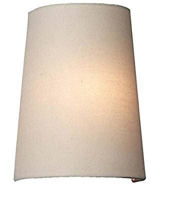 Replacement L Shades Only by Forecast F5484 Elise Wall Sconce Shade Ivory Fabric