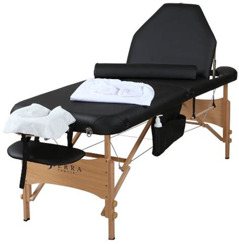 sierra comfort massage table sierra comfort adjustable back rest all inclusive portable