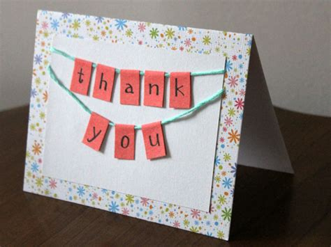 Handmade Thank You Card - handmade thank you card diy how to tutorial loulou downtown