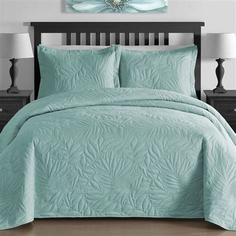 coverlet king size new full queen cal king size bed aqua blue coverlet quilt