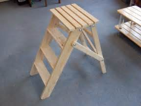 Commercial Table Saw Folding Wooden Stepladder