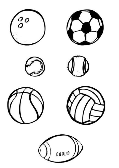coloring page ball sports coloring picture ball sports
