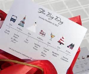 wedding wedding timeline cards helpings