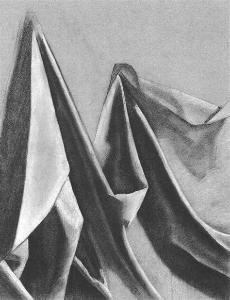 drawing drapery folds charcoal drawing of fabric my drawings paintings
