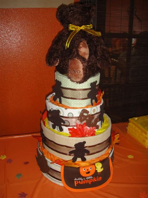 Baby Halloween Craft Ideas - my fall diaper cake baby shower ideas pinterest diaper cakes diapers and fall