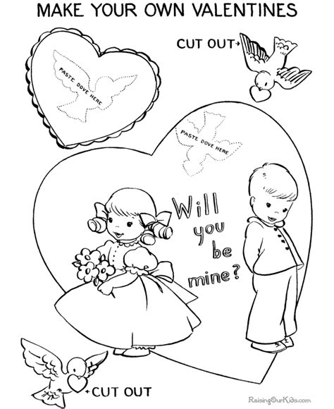 coloring pages for valentines cards printable day coloring page 008