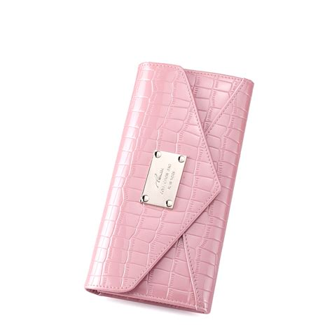 Purse Nucelle Pink 070347 04 patent leather embossed purse pink