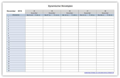 Tabellen Vorlagen Muster dynamischer monatsplan alle meine vorlagen de