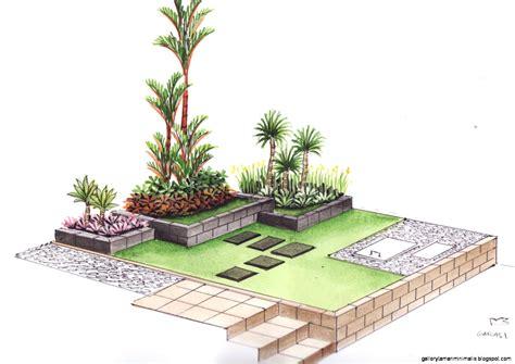 sketsa taman minimalis gallery taman minimalis