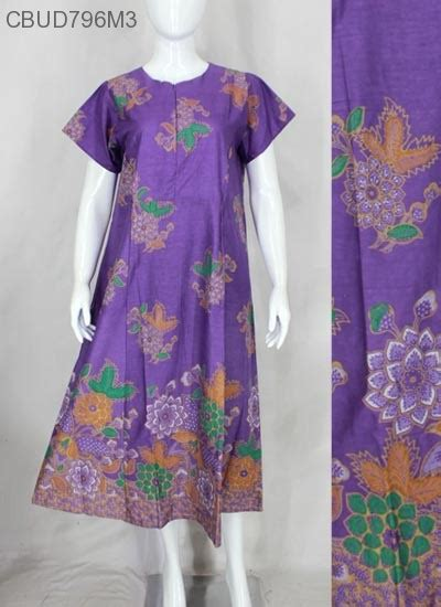 Longdress Batik Pekalongan Busui daster busui batik motif bunga daster longdress