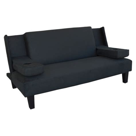 Black Futon by Azura Cupholder Futon Black Lifestyle Solutions Target