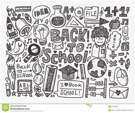 doodlebug academy doodle back to school background stock vector image