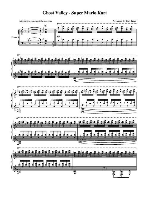 theme music mario game music themes super mario kart sheet music