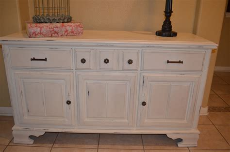 antique white vintage buffet sideboard console cabinet