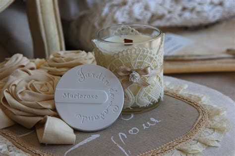 stoppino per candela candela profumata vaso vetro decorata fragranza marierose
