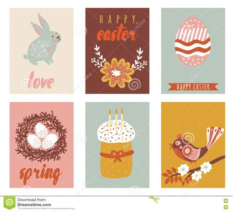happy easter greeting cards template with easter eggs