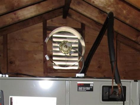 thermostat controlled attic fan drips fans and errors