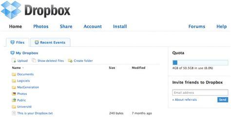 dropbox homepage test de dropbox macgeneration