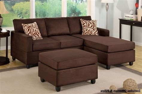 Microfiber Sofa With Chaise Lounge Chocolate Microfiber Sectional Chaise Lounge Sofa With Ottoman Pictures 27 Chaise Design