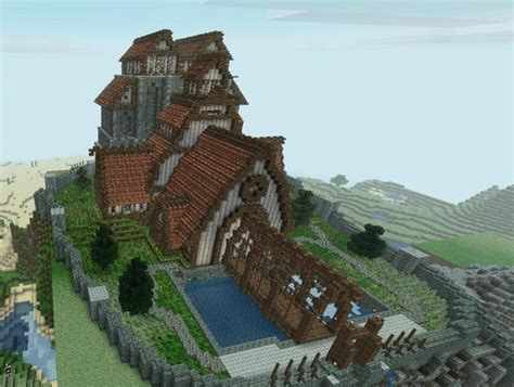 cool minecraft house ideas main town building idea minecraftpics com minecraftables pinterest awesome