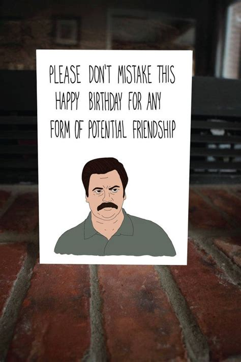 Parks And Recreation Birthday Card