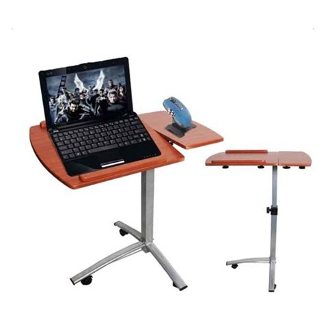 laptop table on wheels the bed table with wheels adjustable hospital home