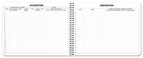 Bookfactory 174 Ffl Bound Book Ffl Log Book Ffl Record Book 100 Pages Bla Ebay Ffl Bound Book Template