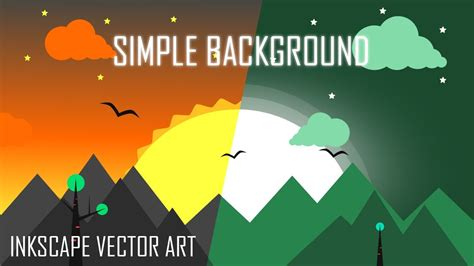 simple flat background vector game art  inkscape