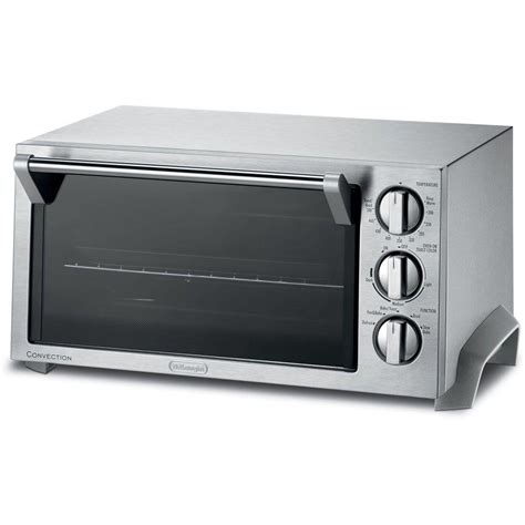 Toaster Oven Stainless Steel Interior Delonghi Stainless Steel Toaster Oven Eo1270 The Home Depot