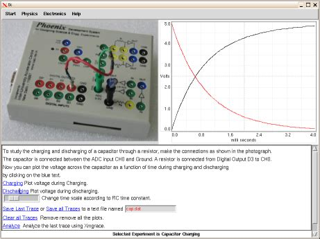 capacitor charge and discharge experiment capacitor
