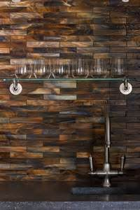 copper glass tile backsplash bar with shimmery coppery tiles backsplash