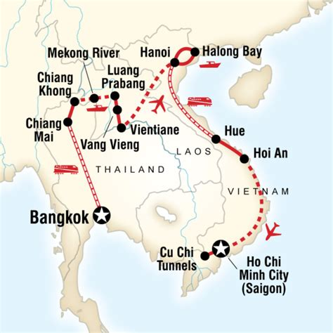 itinerary thailand laos vietnam adventure  thailand