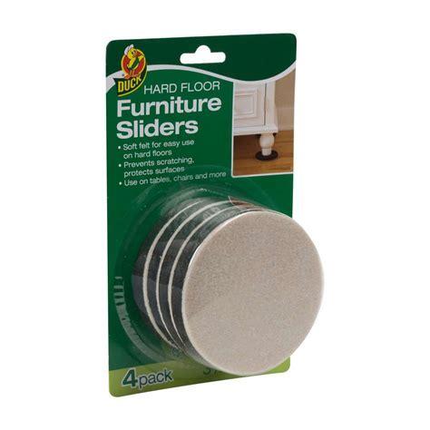Felt Furniture Sliders: For Use On Hard Floor   Duck Brand