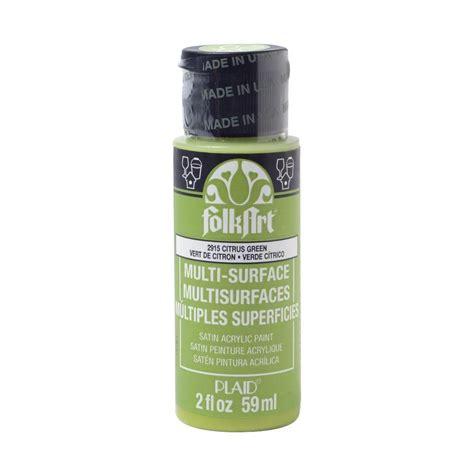 acrylic paint smell folkart 2 oz citrus green multi surface paint 2915 the