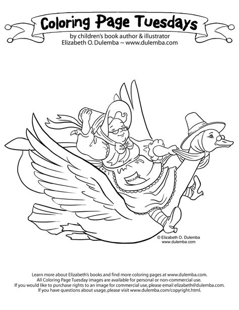 dulemba coloring page tuesday mother goose