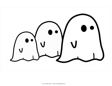 cute ghost coloring page halloween my coloring land
