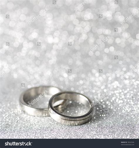 Ringe Silberhochzeit by Wedding Rings On Silver Background Stock Photo 78567046