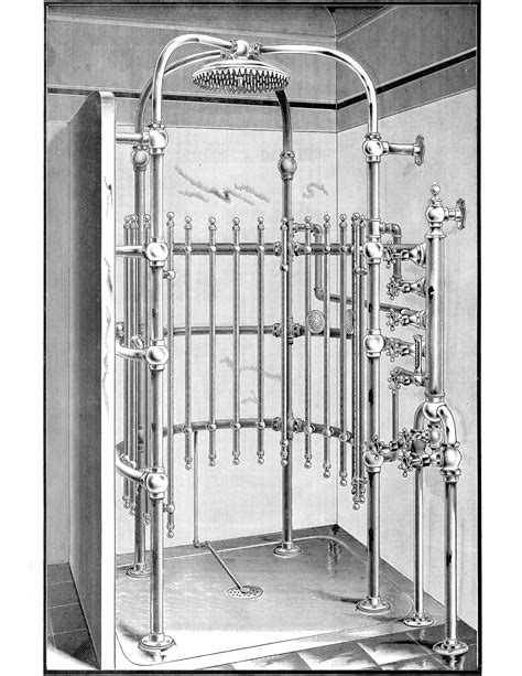 Fashioned Shower by Curious Antique Shower Image The Graphics