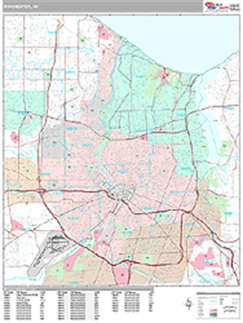 zip code map rochester ny rochester new york zip code wall map premium style by